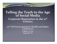 Telling the Truth in the Age of Social Media