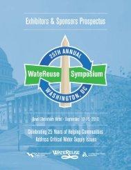 Exhibitors and Sponsors Prospectus - WateReuse Association