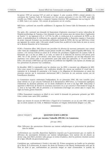 Journal officiel CE 350, 11/12/2001, p. 54 - Certil