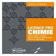 Industries chimiques et pharmaceutiques ... - Faculté de Chimie