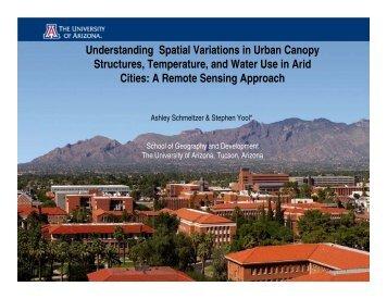 Steve Yool and Ashley Schmeltzer Presentation - School of ...