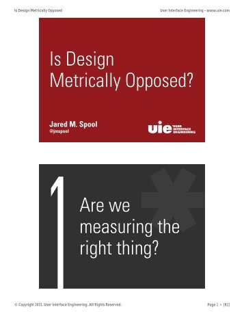 Is Design Metrically Opposed? - R1.0