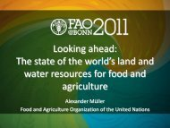 (FAO) (PDF, 2.0 MB) - The Water, Energy and Food Security Nexus