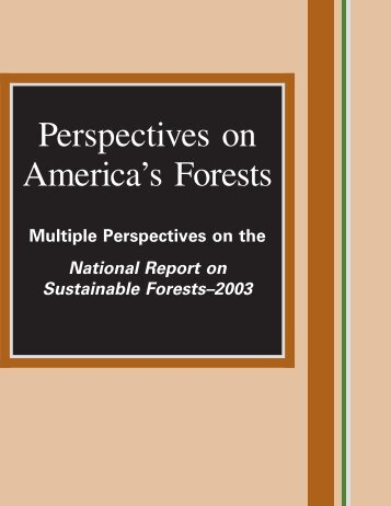Perspectives on America's Forests - Society of American Foresters