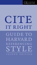 Cite It Right - University of Limerick
