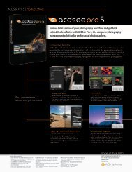 ACDSee Pro 5   Product Sheet www.acdsee.com Achieve ... - A Soft 1