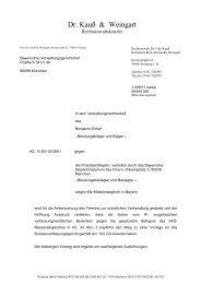 Schriftsatz des Klägers vom 11.08.2011