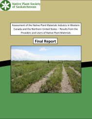 2010 Native Plant Materials Market Assessment Final Report
