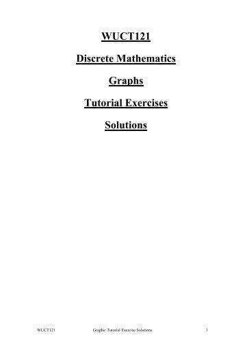 graphs in discrete mathematics pdf