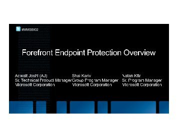 ForeFront Endpoint Protection Overview