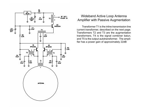 Wideband Active Loop Antenna Amplifier with Passive