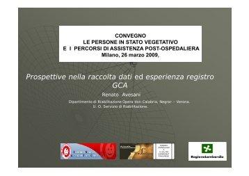 Convegno 26 marzo 2009 - relazione Avesani