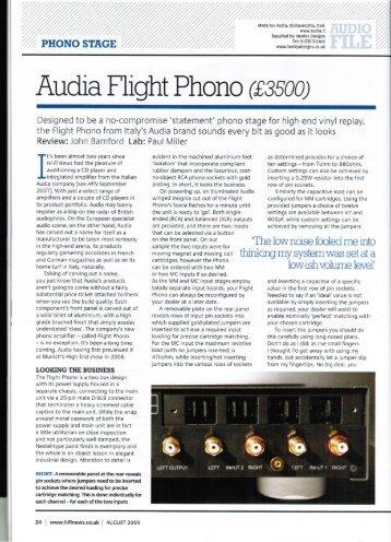 "Audia F"" ight Phono (£3500)  - Music Tools"
