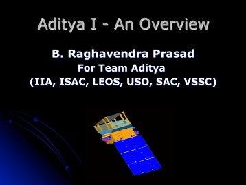 Overview on ADITYA-1 Payload