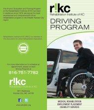 Program Brochure - Rehabilitation Institute of Kansas City