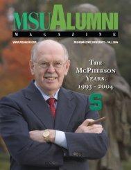 MSU Alumni Magazine, Fall 2004 issue - MSU Alumni Association ...