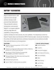 KAPTON FLEX HEATERS - IES Technical Sales