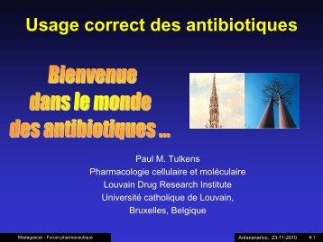 Usage correct des antibiotiques - UCL