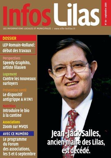 Jean-Jack Salles, Jean-Jack Salles - Les Lilas