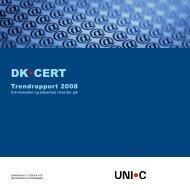 Trendrapport 2008 - DK-Cert