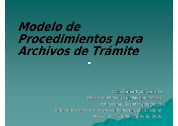 Modelo de Procedimientos para Archivos de Trámite