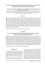 avaliação do efeito de diferentes concentrações de álcool na ...
