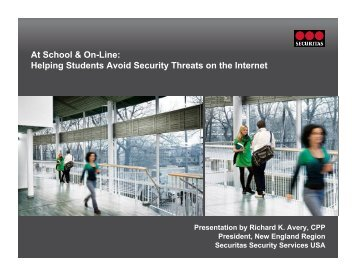 At School & On-Line: Helping Students Avoid Security Threats on ...