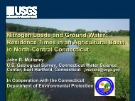 Importance of ground-water flow and travel time on ... - NEIWPCC