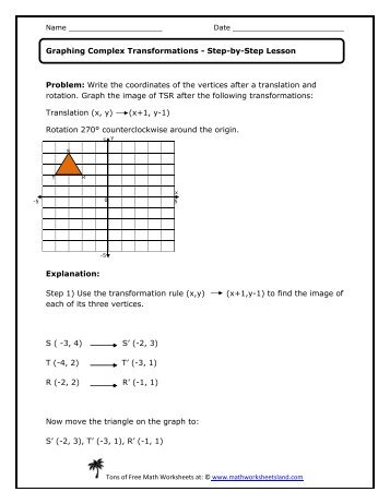 math worksheet : math worksheets land transformations  math worksheets land  : Transformations Math Worksheets