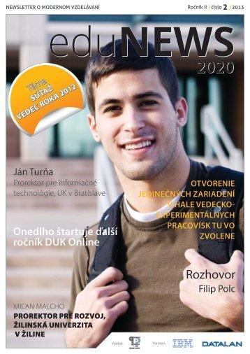 eduNEWS 2020 02 2013 - Datalan, a.s.