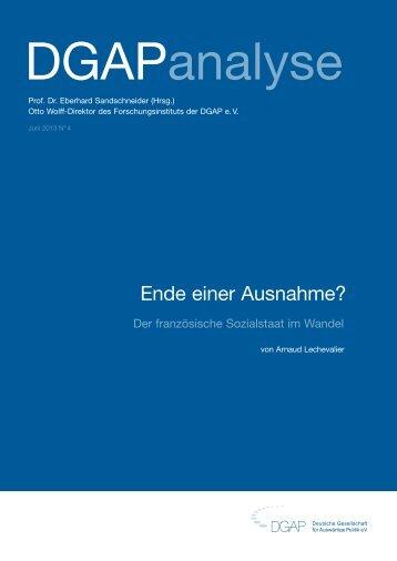 Ende einer Ausnahme? - Deutsche Gesellschaft für Auswärtige ...