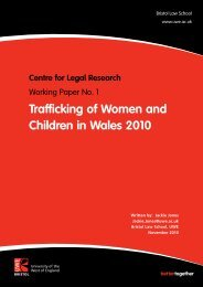Trafficking of Women and Children in Wales 2010 - University of the ...