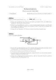 Rechnerstrukturen Wintersemester 2003/2004 - Systemsoftware und ...