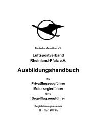 Ausbildungshandbuch (PDF) - Luftsportverband Rheinland-Pfalz eV