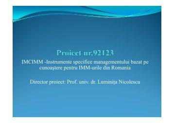 Instrumente specifice managementului bazat pe cunoastere pentru