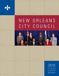 2011 Legislative Action (PDF) - New Orleans City Council