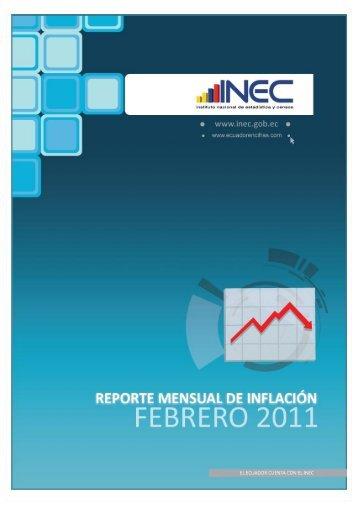 Reporte mensual inflación febrero 2011 - El Universo