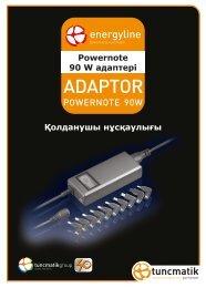 Powernote 90 W адаптері Қолданушы нұсқаулығы - Tuncmatik