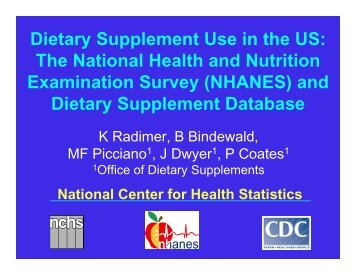 Dietary Supplement Use in the US: The National Health and ...