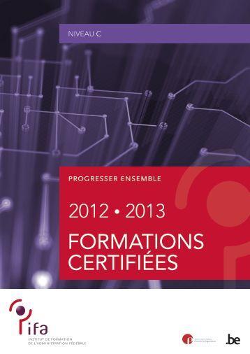 Formations certifiées de niveau C (PDF, 732.52 Kb) - Fedweb