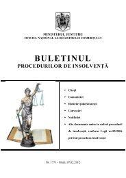 CABINET INDIVIDUAL DE INSOLVENTA TUDORACHE GABRIELA ...