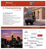 5. Finanzplatztag - WM Datenservice
