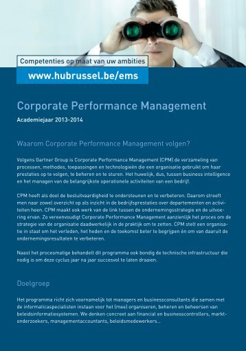 Corporate Performance Management - HUBRUSSEL.net