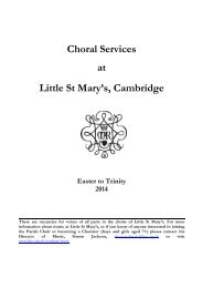 Music List Summer 2013 corrected - Little St Mary's