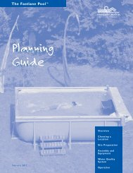 Planning Guide - Classic Pool and Spa
