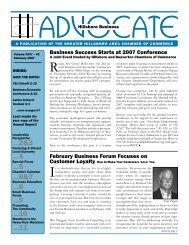 Advocate - Hillsboro Chamber of Commerce