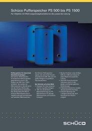 Datenblatt Pufferspeicher 500 - 1500 Liter ohne WT - Gerenda Solar