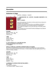 agenda de septembre - Liege demain.be