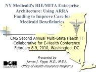 NY Medicaid's HIE/MITA Enterprise Architecture - Blsmeetings.net