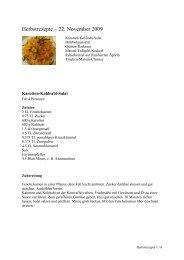 Herbstrezepte – 22. November 2009 - bei Rice & Spice